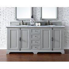 "Providence 72"" Double Urban Gray Bathroom Vanity Set"