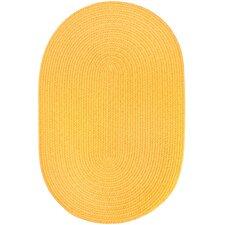 Handmade Yellow Indoor/Outdoor Area Rug