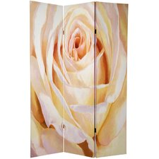 "70.88"" x 47"" Double Sided Roses 3 Panel Room Divider"