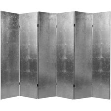 70.88 x 94.5 Crocodile 6 Panel Room Divider by Oriental Furniture