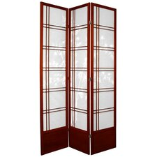 "83.5"" Bamboo Tree Double Cross Shoji Room Divider"