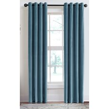 Velvet Soft Luxury Grommet Single Curtain Panel