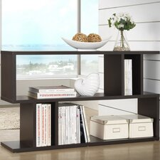 Baxton Studio Goodwin 28 Accent Shelves Bookcase by Wholesale Interiors