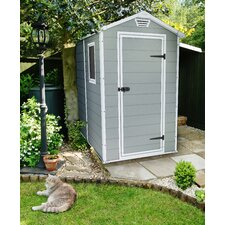 Manor 4 ft. W x 6.3 ft. D Resin Vertical Storage Shed