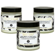 3 Piece Herb Garden Scented Soy Jar Candle