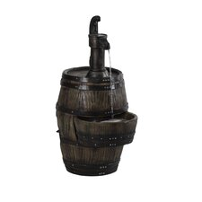 Barrel Water Feature Resin Fountain with Light