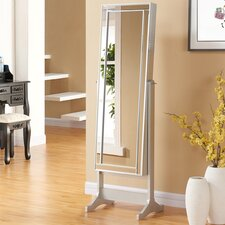 Abby Free Standing Jewellery Armoire with Mirror