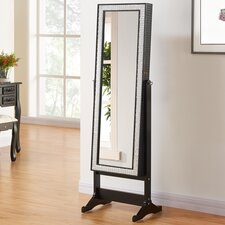 Anna Free Standing Jewellery Armoire with Mirror