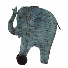 Artistic Wood Painted Elephant Figurine