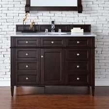Brittany 48 Single Burnished Mahogany Bathroom Vanity Set by James Martin Furniture