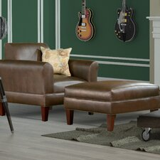 Tracy Porter Armchair and Ottoman with Accent Pillow by Carolina Accents