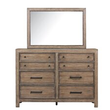 Coulonge 8 Drawer Dresser with Mirror by Laurel Foundry Modern Farmhouse
