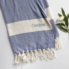 Personalized Cotton Throw Blanket