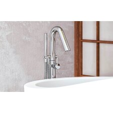 Colonna Floor Mounted Free Standing Tub Filler by Aquatica