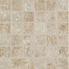 """Steppington 2"""" x 2"""" Ceramic Mosaic Tile in Baronial Beige and Traditional Taupe Blend (Set of 2)"""