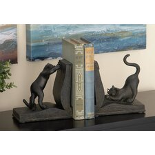 Polystone Cat Book Ends (Set of 2)