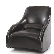 Villani Leather Club Chair by Brayden Studio