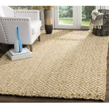Huntersville Hand-Woven Ivory/Natural Area Rug