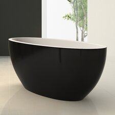 "Sensuality Mini Freestanding 66.5"" L x 26.75"" W Soaking Bathtub"