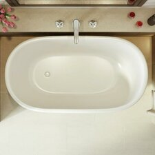 "Lullaby Nano Freestanding 51.25"" L x 27.5"" W Soaking Bathtub"