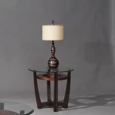 Berghoff Round End Table Base in Rich Cappuccino by Red Barrel Studio