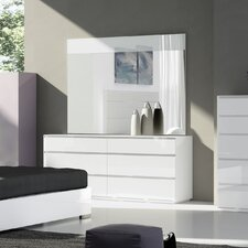 Lebanon 6 Drawer Double Dresser with Mirror by Wade Logan