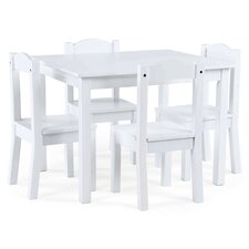 Samira Kids' 5 Piece Rectangular Table and Chair Set