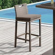 "Barksdale Outdoor 28"" Bar Stool with Cushion"