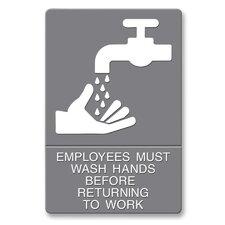 ADA Wash Hands Sign