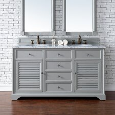 Savannah 60 Double Urban Gray Bathroom Vanity Set by James Martin Furniture