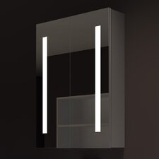 """Verano 24"""" x 32"""" Surface Mount Medicine Cabinet with LED Lighting"""