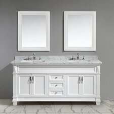 Halcomb 72 Double Bathroom Vanity Set with Mirror by Red Barrel Studio