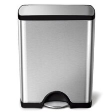 Step-On Stainless Steel 13 Gallon Trash Can