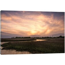 Low Country Sunset I' Photographic Print on Canvas  by East Urban Home