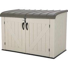 Horizontal 75 Gallon Plastic Portable Storage Shed