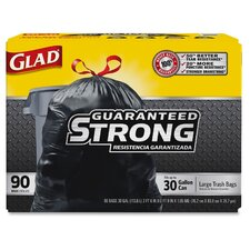 Glad Drawstring 30-Gal. Trash Bags, 90 Count