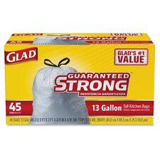 Glad Strong Tall Kitchen 13-Gal. Trash Bags, 45 Count