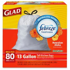 Glad OdorShield Tall Kitchen 13-Gal. Trash Bags, 80 Count