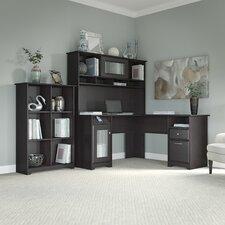 Hillsdale 3 Piece L-Shaped Desk Set with Hutch & Bookcase