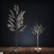 2 Piece Artifical Christmas Tree Set