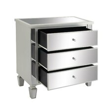3 Drawer Mirror Chest by Cole & Grey
