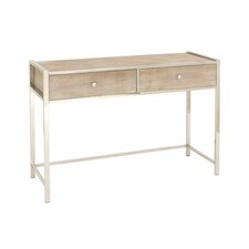 Stainless Steel and Wood Console Table by Cole & Grey