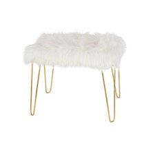 Metal Fur Accent stool