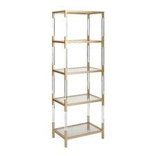 "Metal Glass Acrylic 69"" Standard Bookcase"