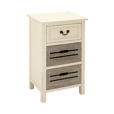Wood 3 Drawer Nightstand by Cole & Grey