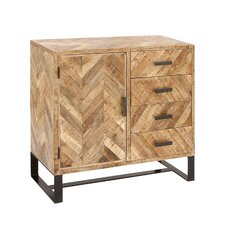 1 Door 4 Drawer Wood Side Board Accent Cabinet by Cole & Grey