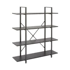 "Metal and Wood 55"" Etagere Bookcase"