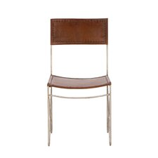 Metal Leather Side Chair