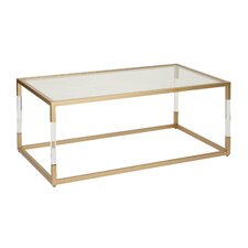 Metal and Glass Acrylic Coffee Table by Cole & Grey