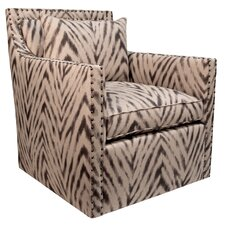 Jaxton Swivel Amir Cumin Armchair by World Menagerie